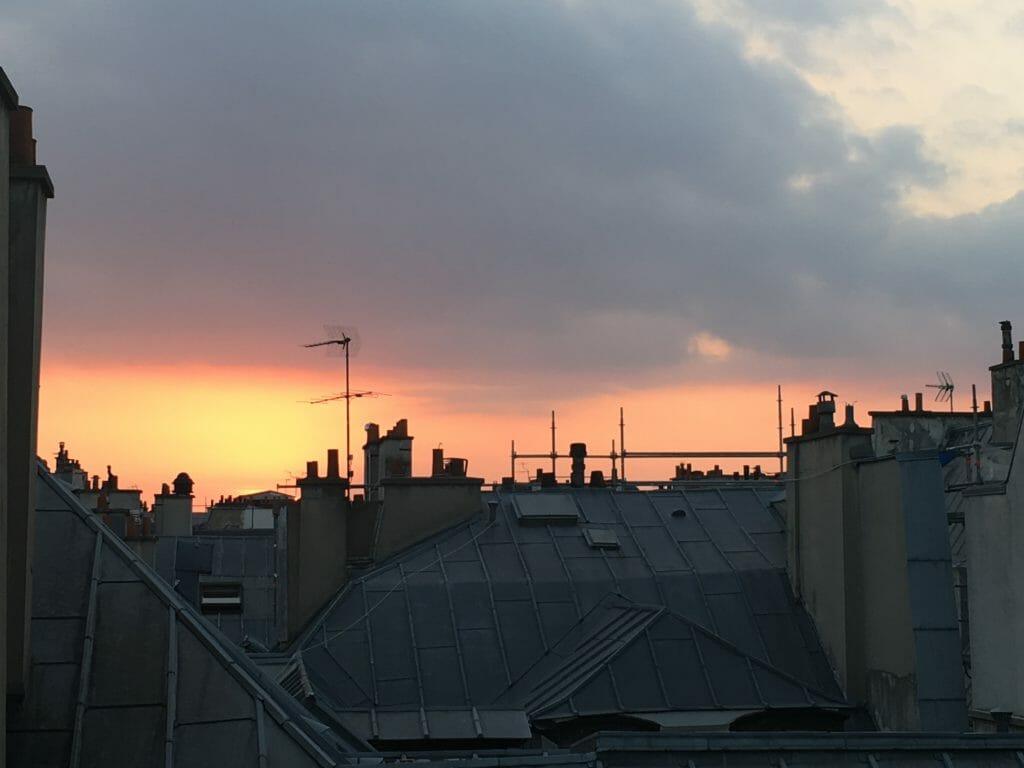 Paris, Rooftop, toits parisiens, coucher du soleil parisien, ballerinasandsneakers