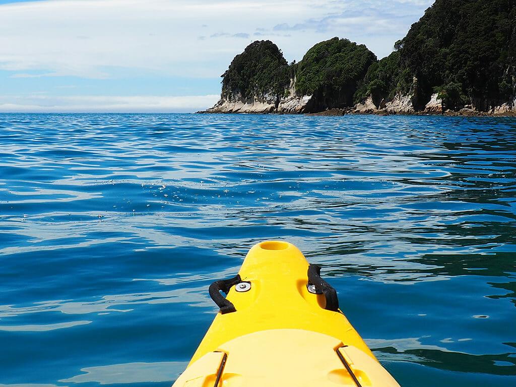 Itinéraire 3 semaines dans l'île du sud de la Nouvelle-Zélande: canoë à Abel Tasman