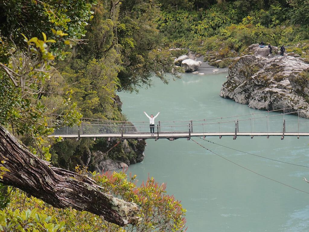 Itinéraire 3 semaines dans l'île du sud de la Nouvelle-Zélande: Hotikita gorge sur la côte ouest