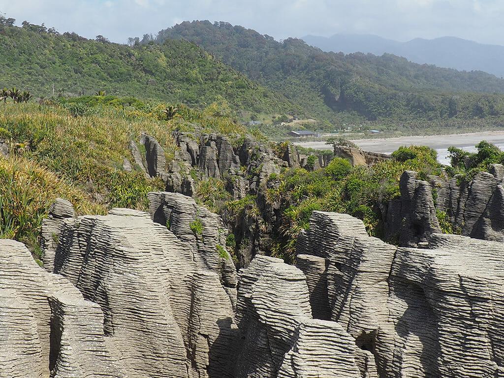 Itinéraire 3 semaines dans l'île du sud de la Nouvelle-Zélande: les pancake rocks sur la côte ouest