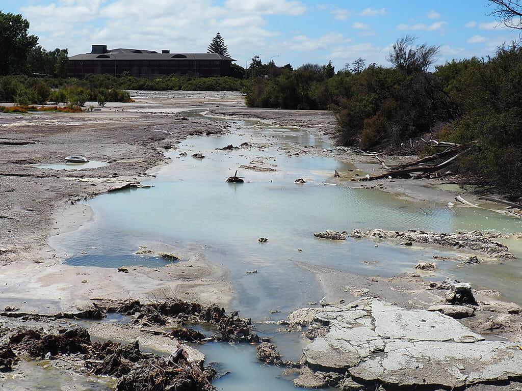 Géothermie et eau soufrée à Rotorua en Nouvelle-Zélande