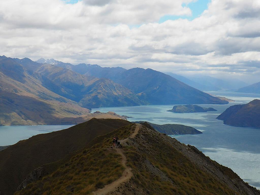 Itinéraire 3 semaines dans l'île du sud de la Nouvelle-Zélande: la vue de la randonnée de Roy's Peak en Nouvelle-Zélande