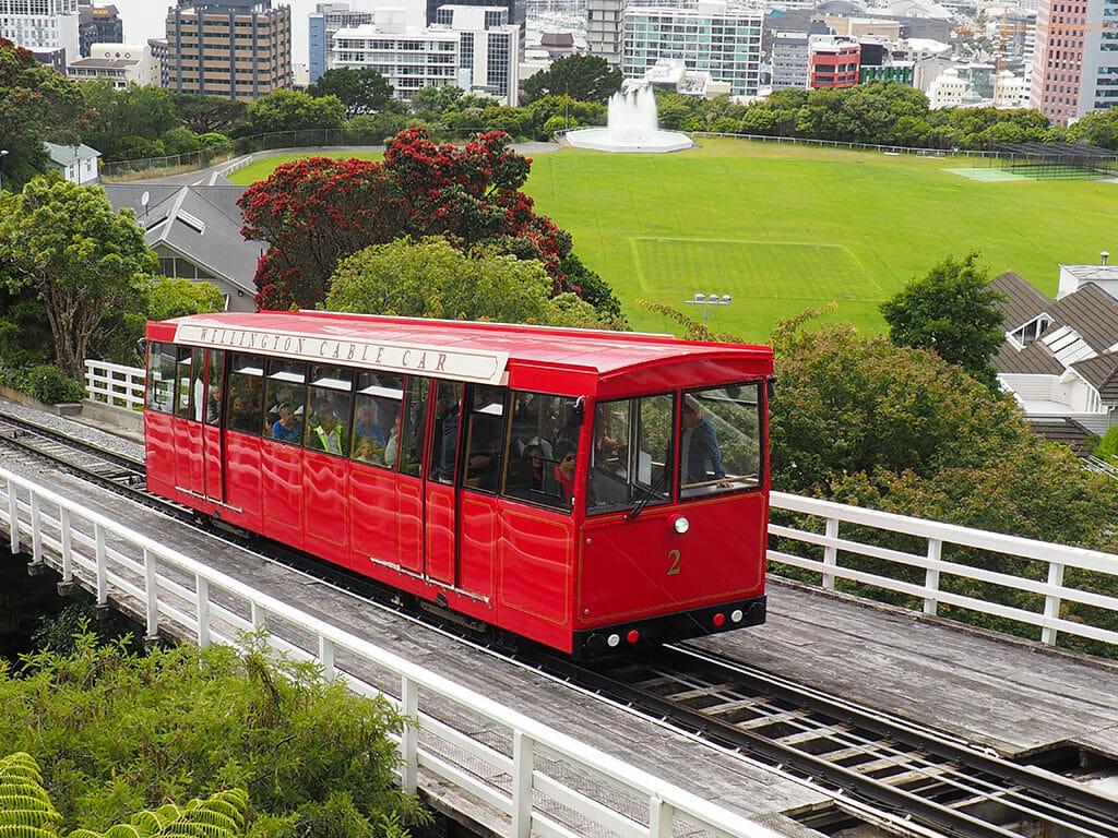 Le Cable Car de la ville de Wellington en Nouvelle-Zélande