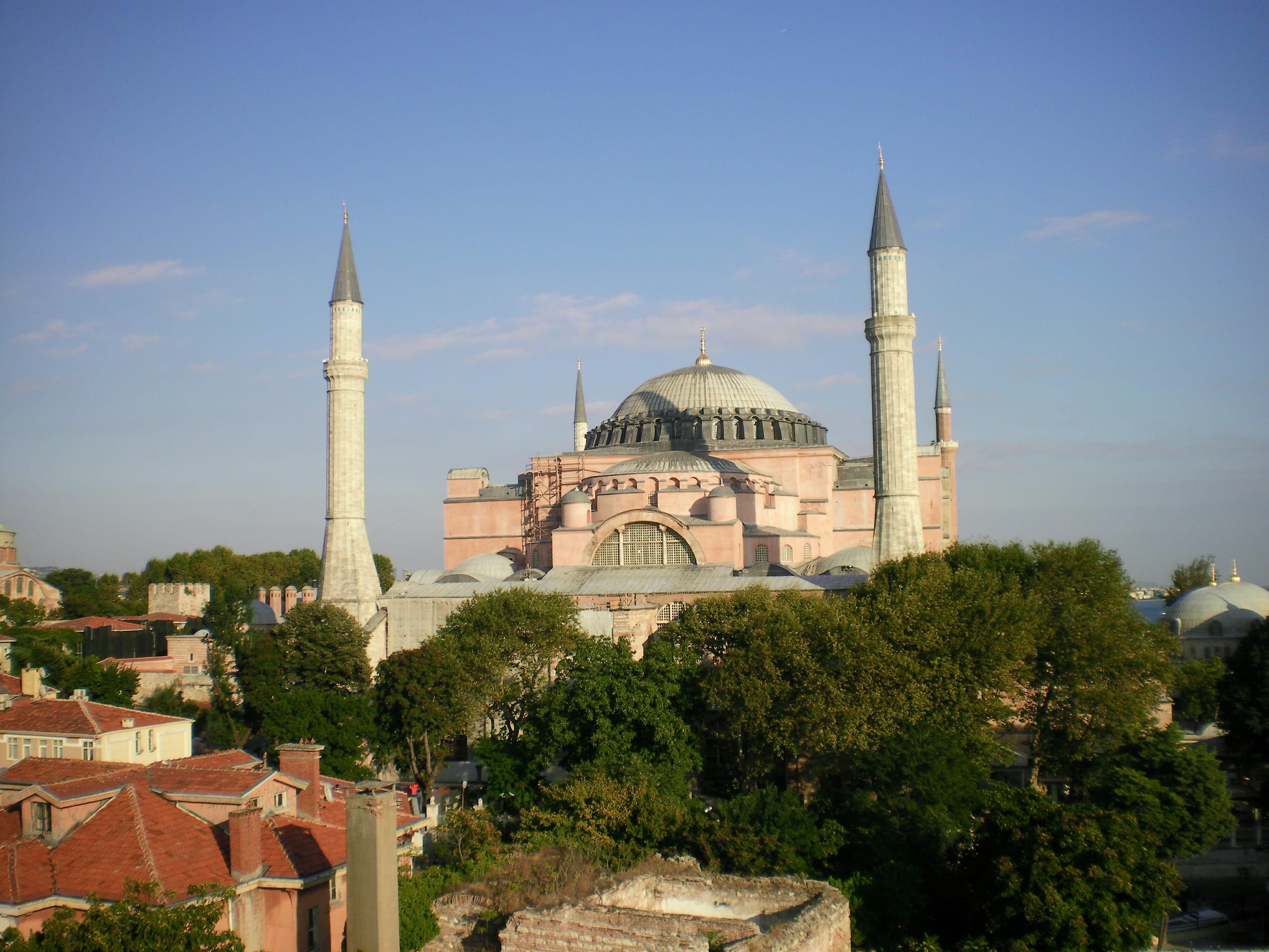 Itinéraire à Istanbul: mosquée Sainte Sophie