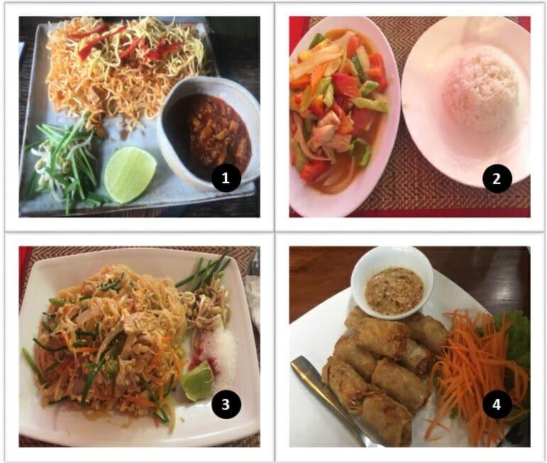 Nourriture au Cambodge autres plats avec nems