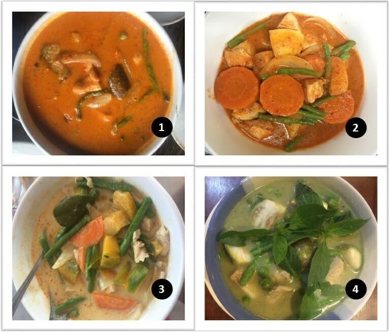 Nourriture au Cambodge avec les currys