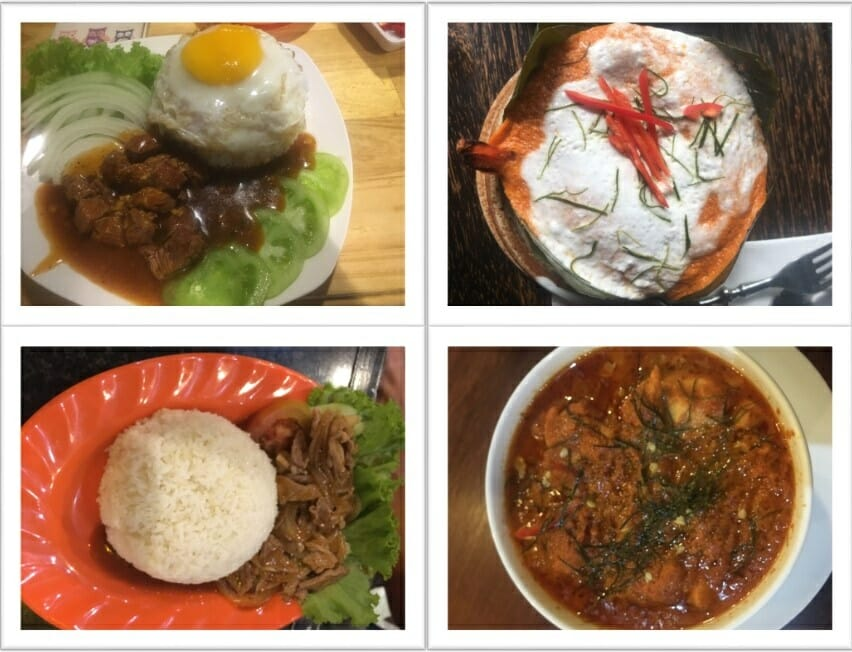 Nourriture au Cambodge avec la Lok Lak et le Amok