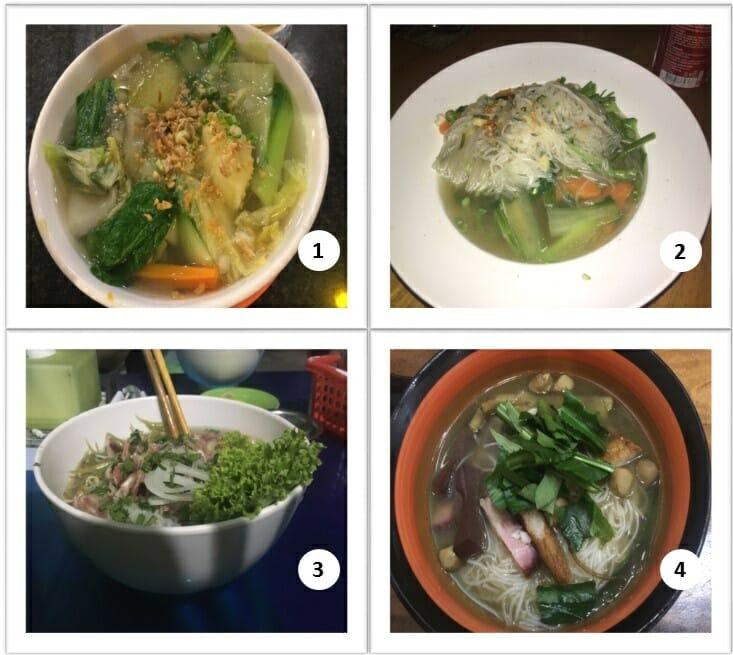 Nourriture au Cambodge avec les soupes