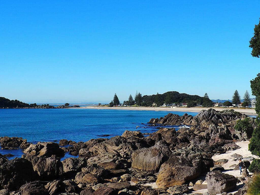 Promenade autour du Mont maunganui à Tauranga en Nouvelle-Zélande