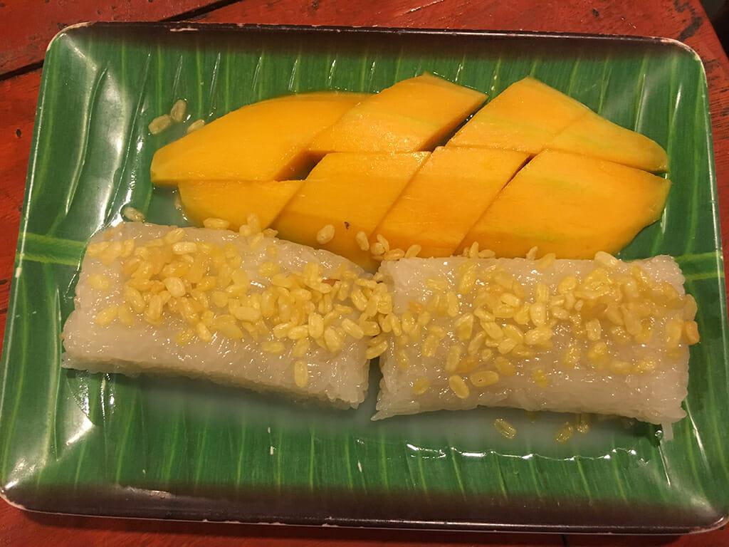 Dessert sucré en Asie Mango Rice