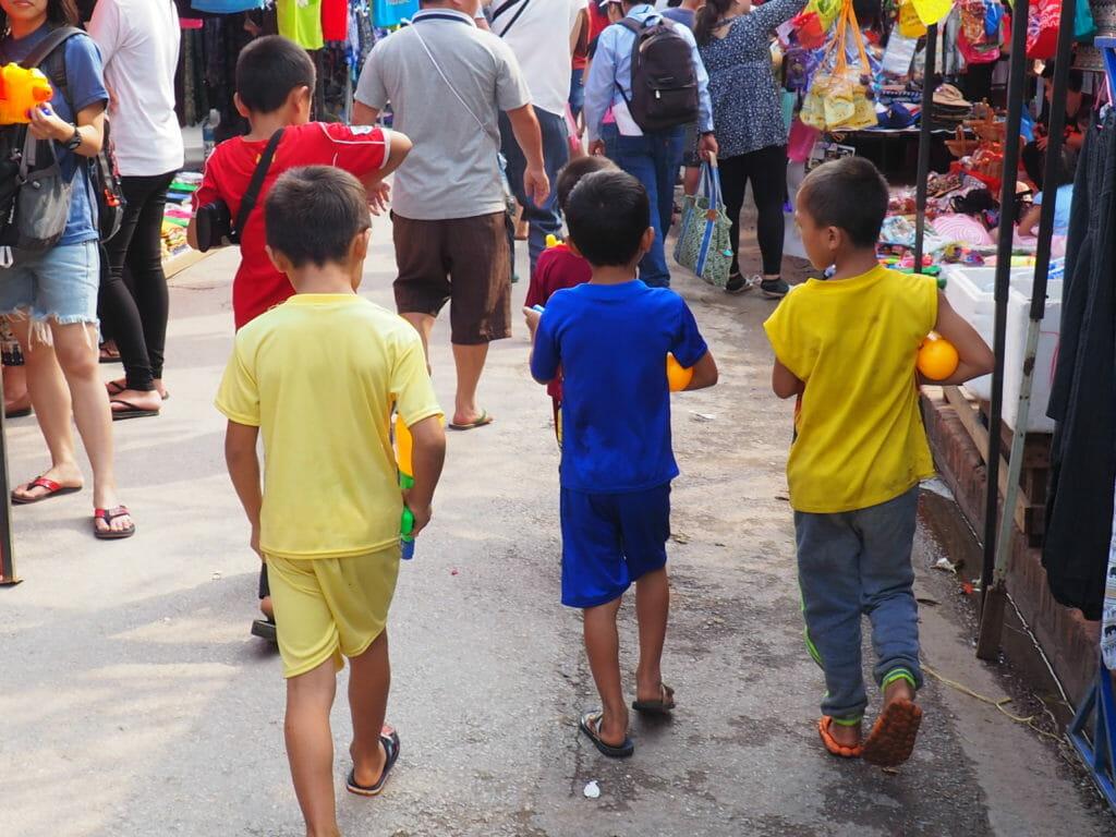 Fête de l'eau au Laos