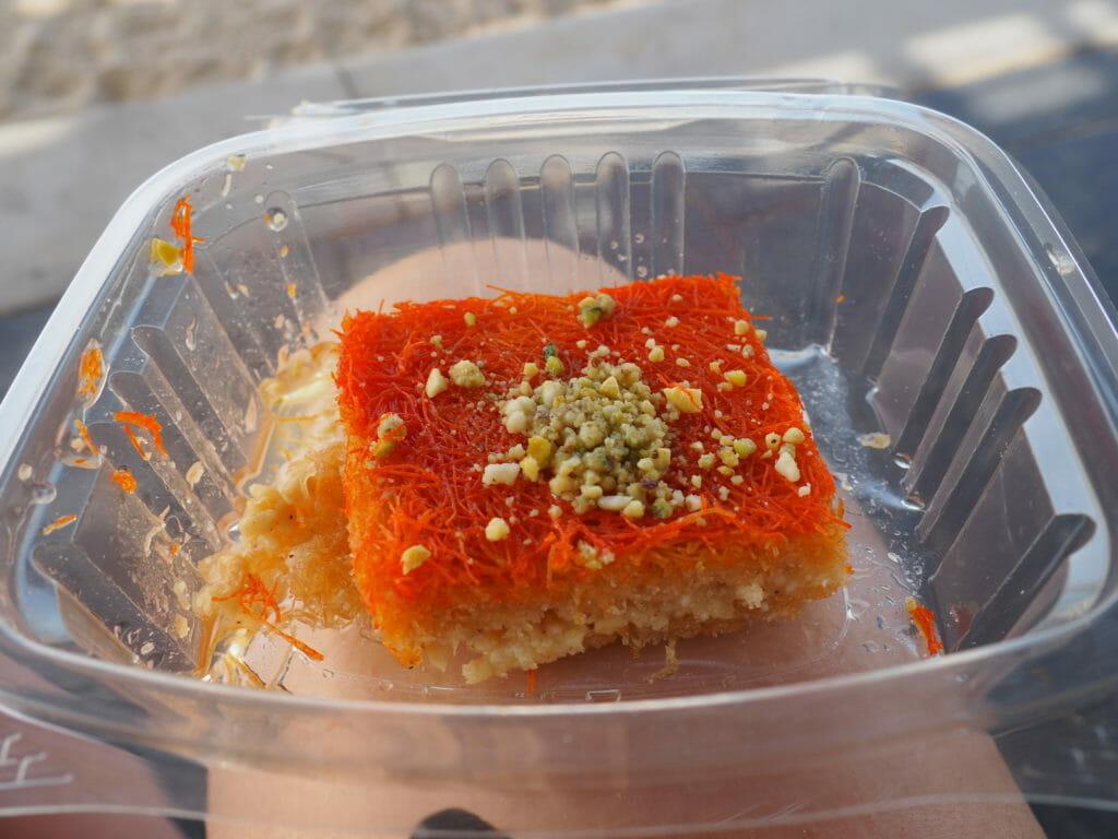 Knafeh à Jaffar Sweet - Jerusalem