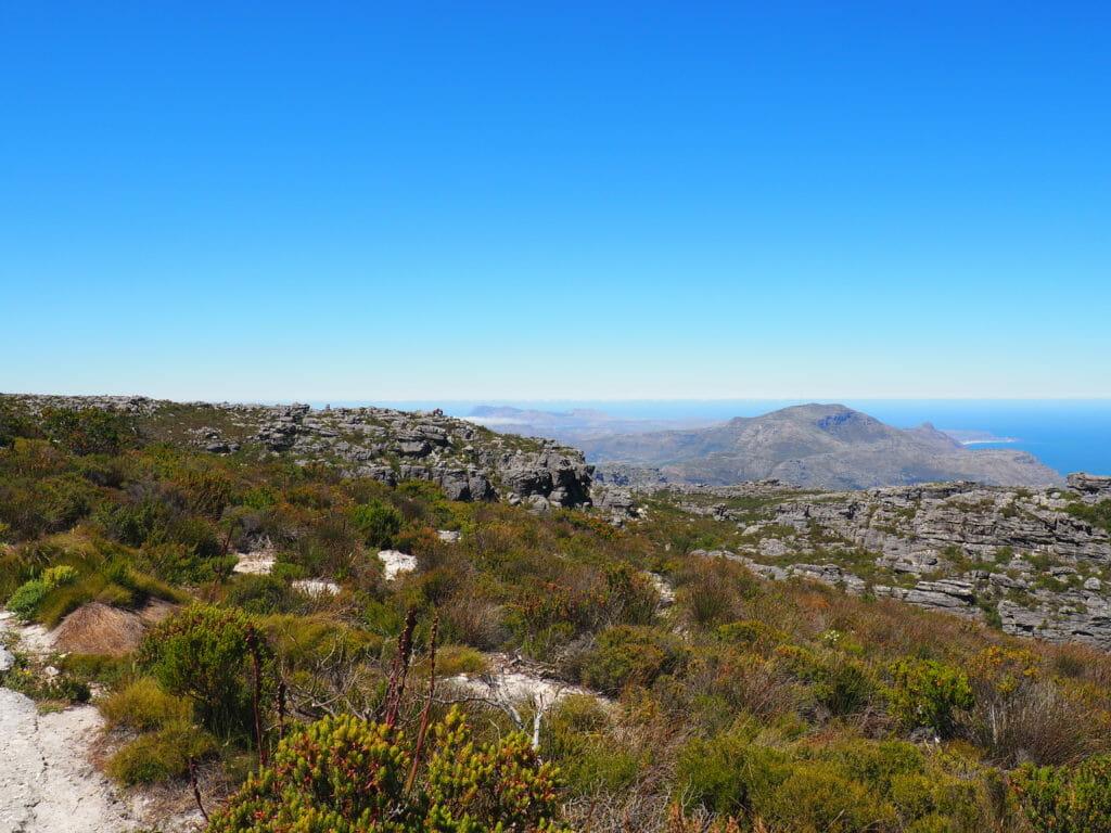 Itinéraire Afrique du Sud: vue Table Mountain