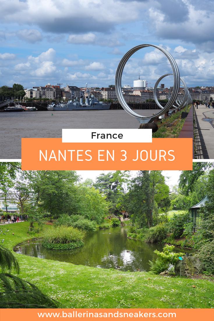 Passer quelques jours à Nantes, mon itinéraire et mes bonnes adresses pour découvrir la ville. #nantes #france #visiternantes #ideeweekend #weekendnantes #blogvoyage #sansvoiture