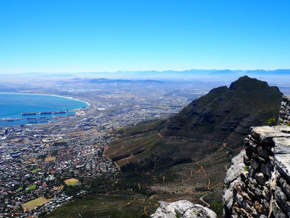 Itinéraire Afrique du Sud: vue de Cape Town
